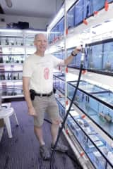 Maintaining holding tanks at the pet store
