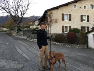 Greg walking Morgan Thoiry France