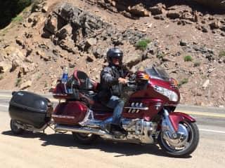 Motorcycle camping trip in Colorado