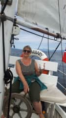 This is me a few years back, cruising on Lake Taupo, NZ.... this boat was originally owned by Erroll Flynn back in the 1940'!