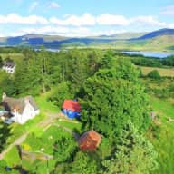 House sitting in the Scottish Highlands between Loch Ness and the Monadh liath Mountains