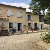 Beautiful farmhouse near Carcassonne with dogs and a cat