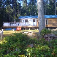 Westcoast Oceanfront Cabin in Forest, Near Vancouver....and Three Lovable Dogs