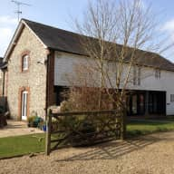Converted barn home with acre of garden in the countryside of Petersfield.