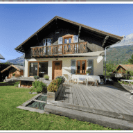 Chalet in Servoz in the Chamonix valley that comes with a lovely black Labrador!