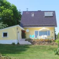 Friendly old Doberman needs sitting in December 2018 and March 2019, Bad Münstereifel, Eifel, NRW, Germany