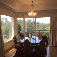 Crawley River View apartment with 2 adorable small dogs