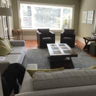Gracious home in Oak Bay area of Victoria, British Columbia complete with large poodle