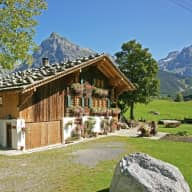 Traditional farmhouse in the Swiss Alps