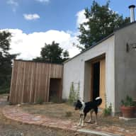 Straw Bale House with Corto, Kees and cat