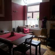 House and 2 very friendly cats in Manchester UK need company while we're away from 25 Aug 13 to 08 Sept 13.