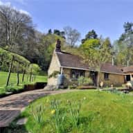 Charming rustic cottage in rural Hampshire with friendly dog