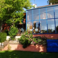 House with large garden and natural pool near Paris