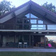 Beautiful, bright, modern home nestled into the Jura Mountains, 15kms from Geneva in Crozet, France