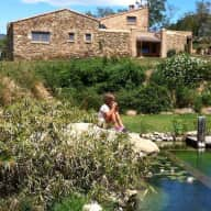 Stone farmhouse in the Alberes, north Catalunya