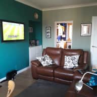 Two bedroom flat in Musselburgh, East Lothian with two cats.