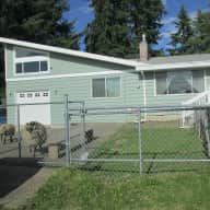 A house with 3 sheep