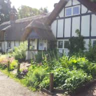 Purring thatched country cottage in pretty village