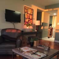 House sit lovely, high end downtown Bethesda 2 bedroom/2 full baths condo with view and underground assigned parking.