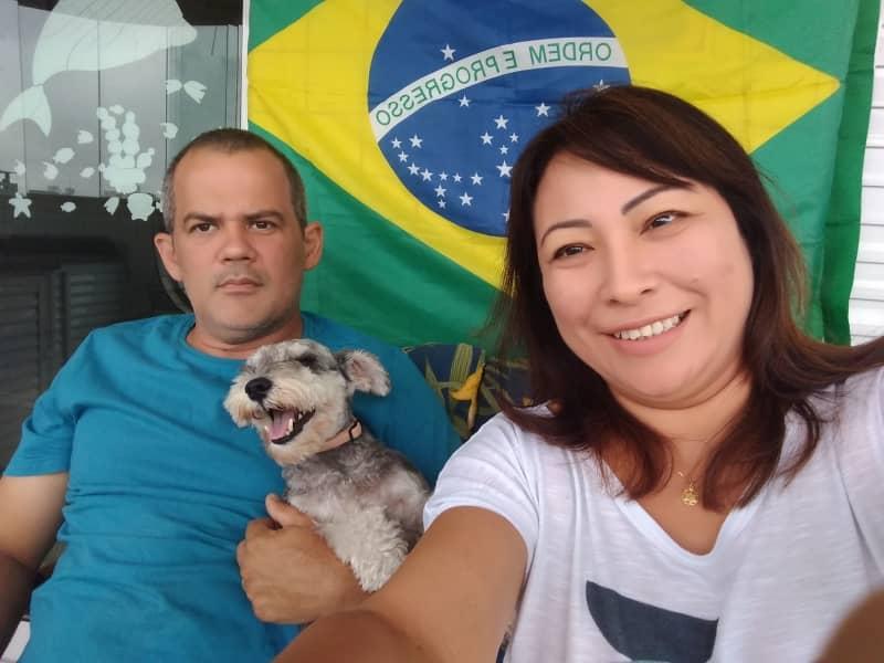 Namy & Ricardo from Praia Grande, Brazil
