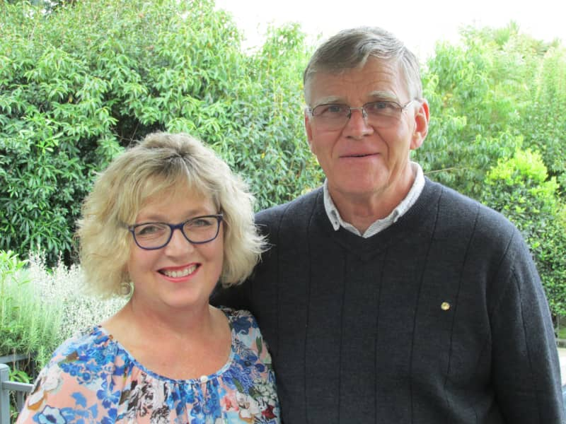 Gillian & Brian from Hastings, New Zealand