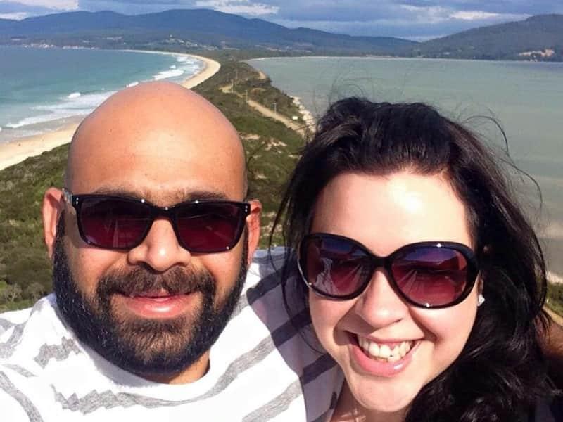 Belinda & Arvind from Launceston, Tasmania, Australia