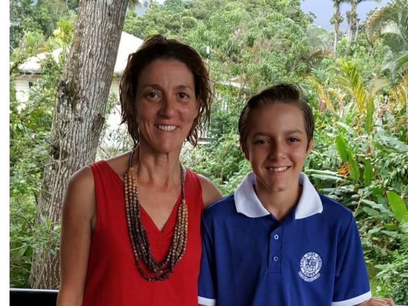 Claire & Dante (son)(12yrs) from Mossman, Queensland, Australia