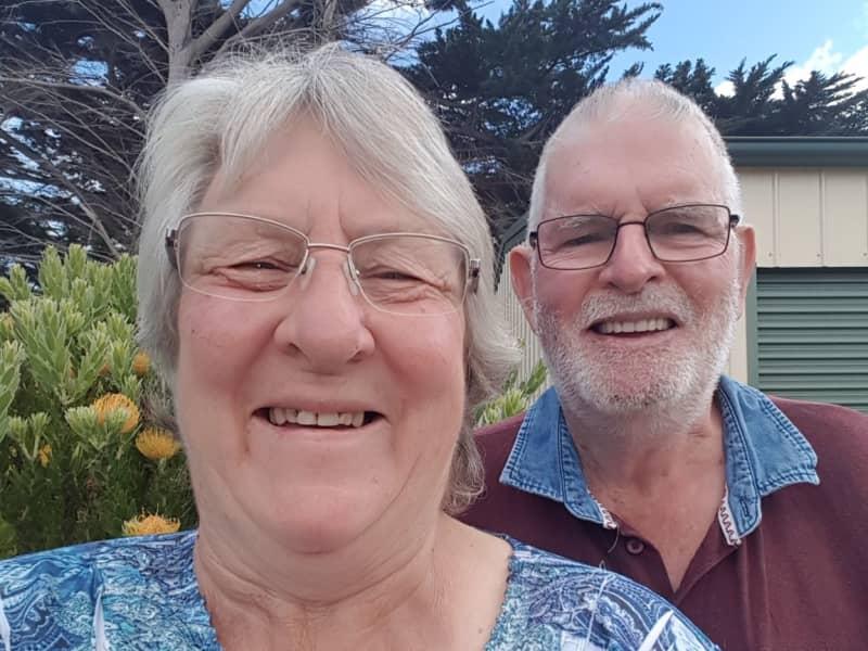 Libby & Doug from Whitemark, Tasmania, Australia