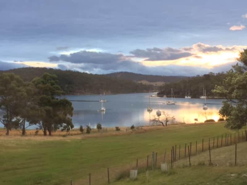 Housesitting assignment in Barnes Bay, Tasmania, Australia