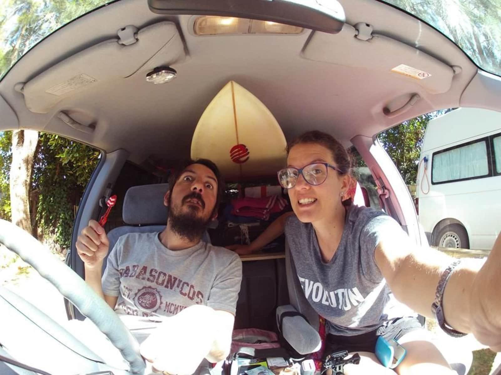 Roberta & Santiago from Piha, New Zealand