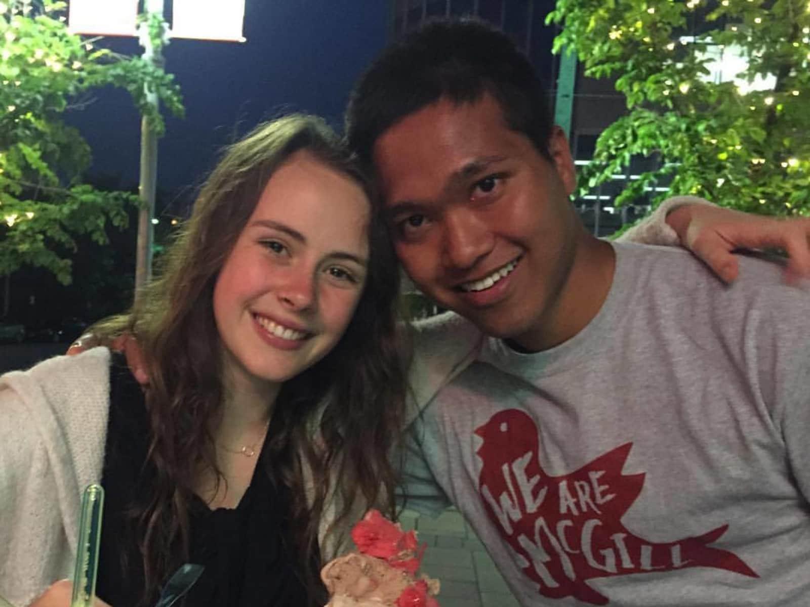 Pierre-quan & Francesca from Montréal, Quebec, Canada