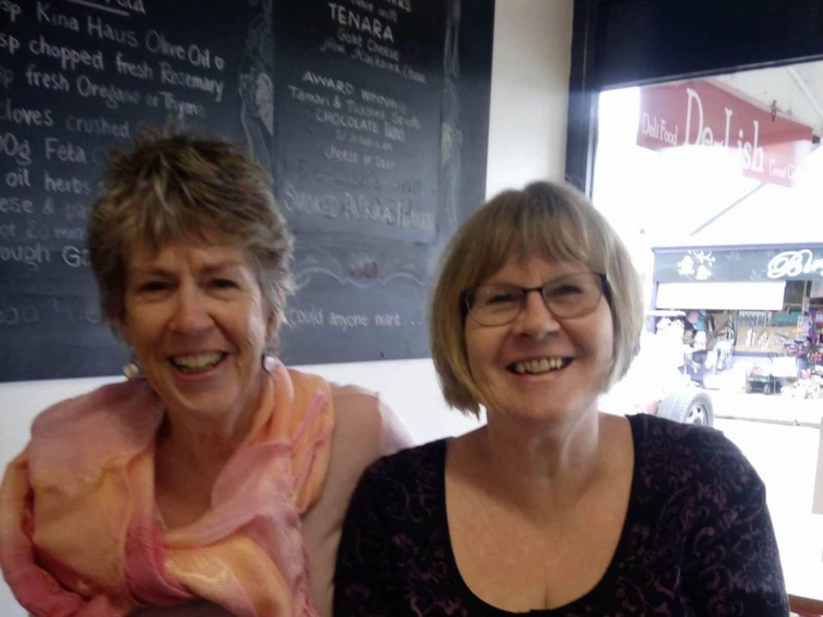 Pauline & Cheryl  (my sister) from Nelson, New Zealand