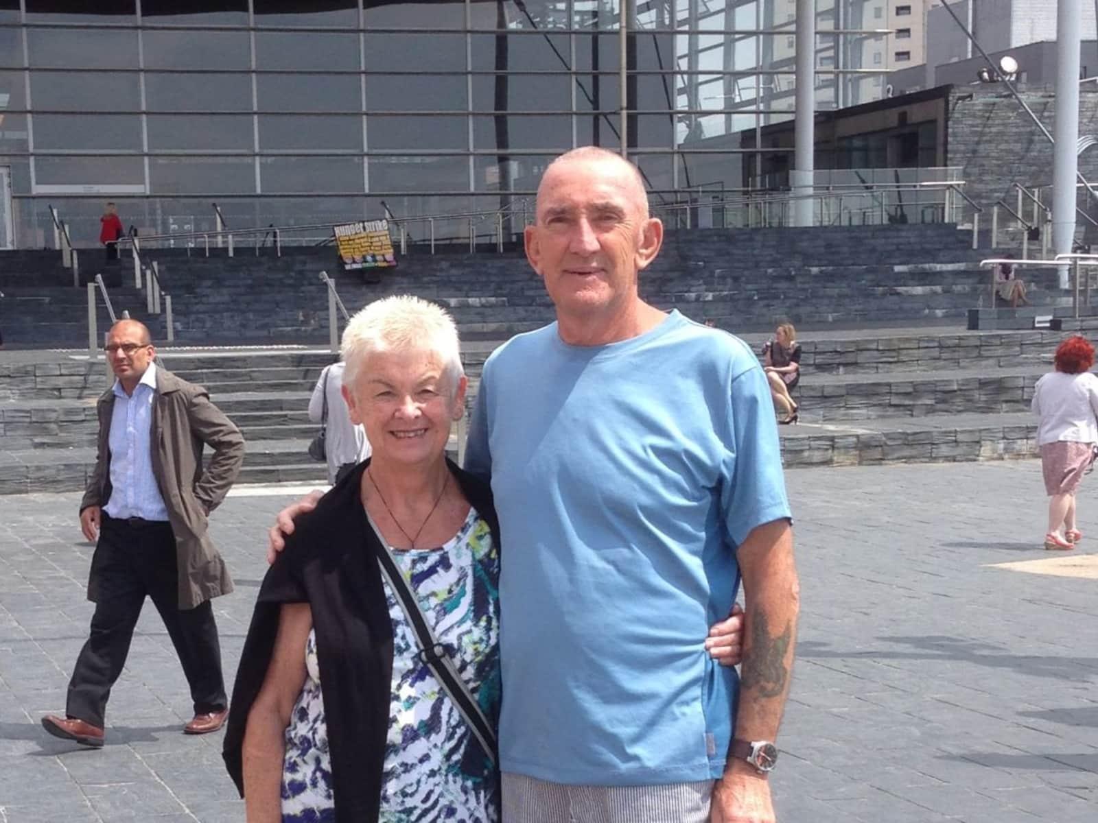 Gillian & Peter john from Palmerston North, New Zealand