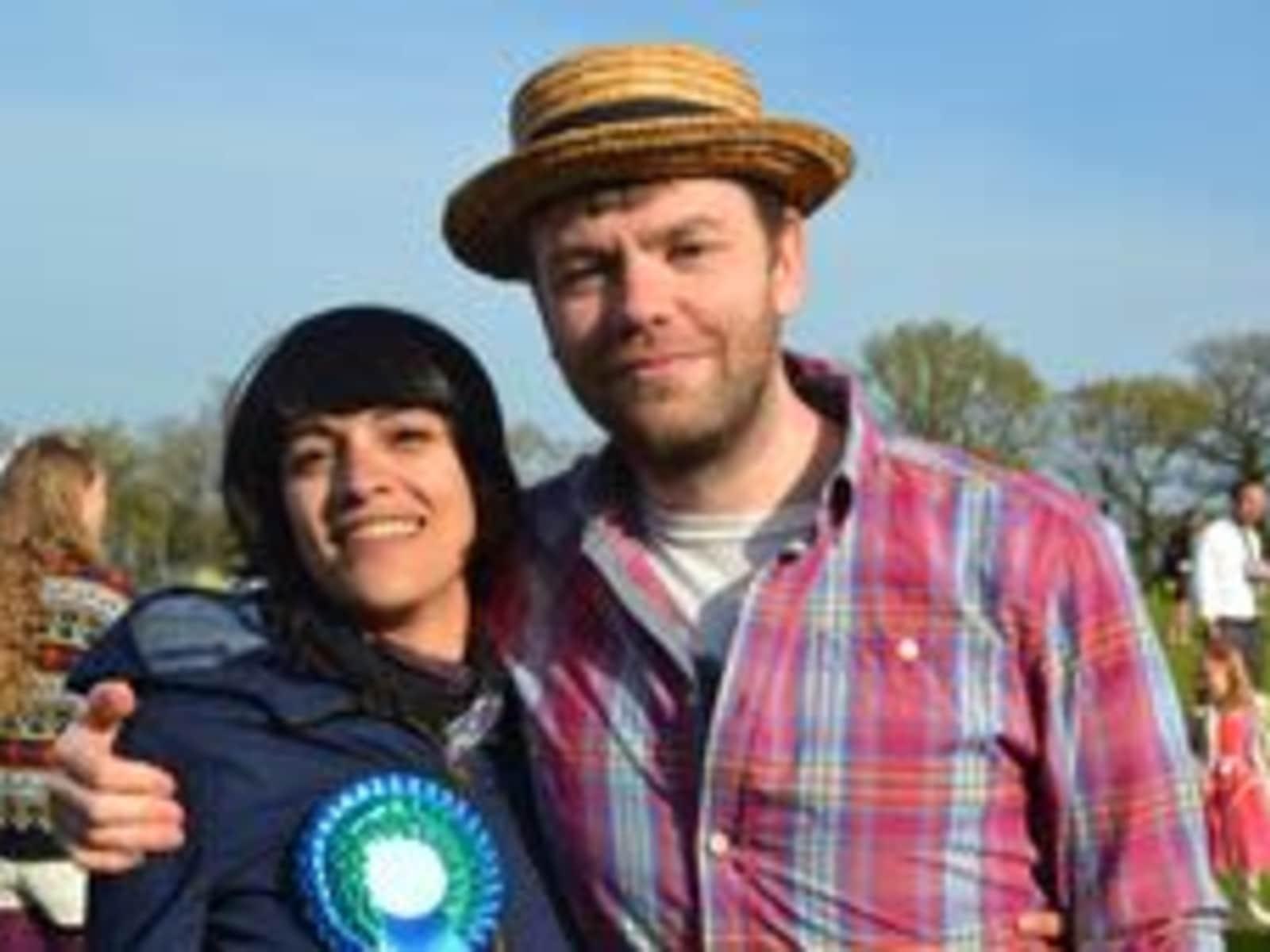 Helia & Bleddyn from Cardiff, United Kingdom