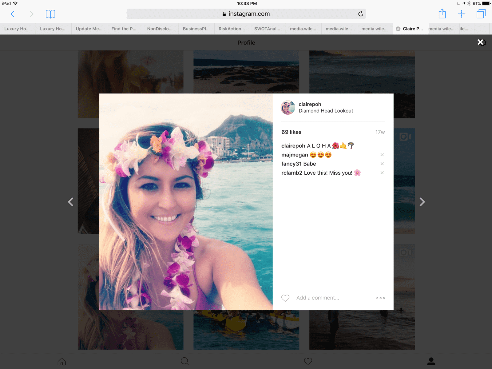 Claire from Honolulu, Hawaii, United States