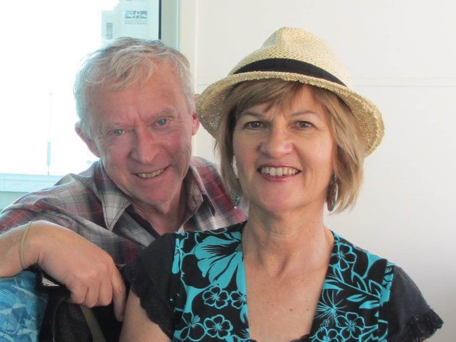 Jill & Malcolm from New Plymouth, New Zealand