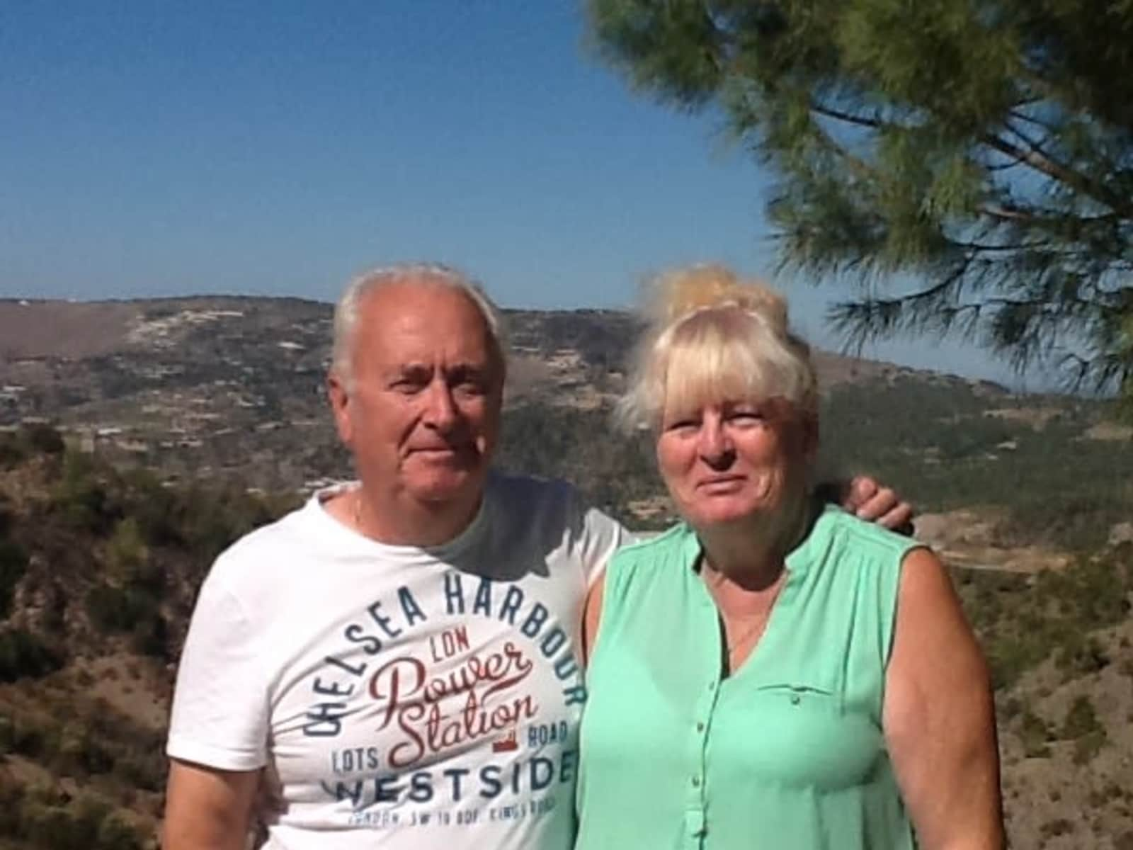 Pam & Chris from Pégeia, Cyprus