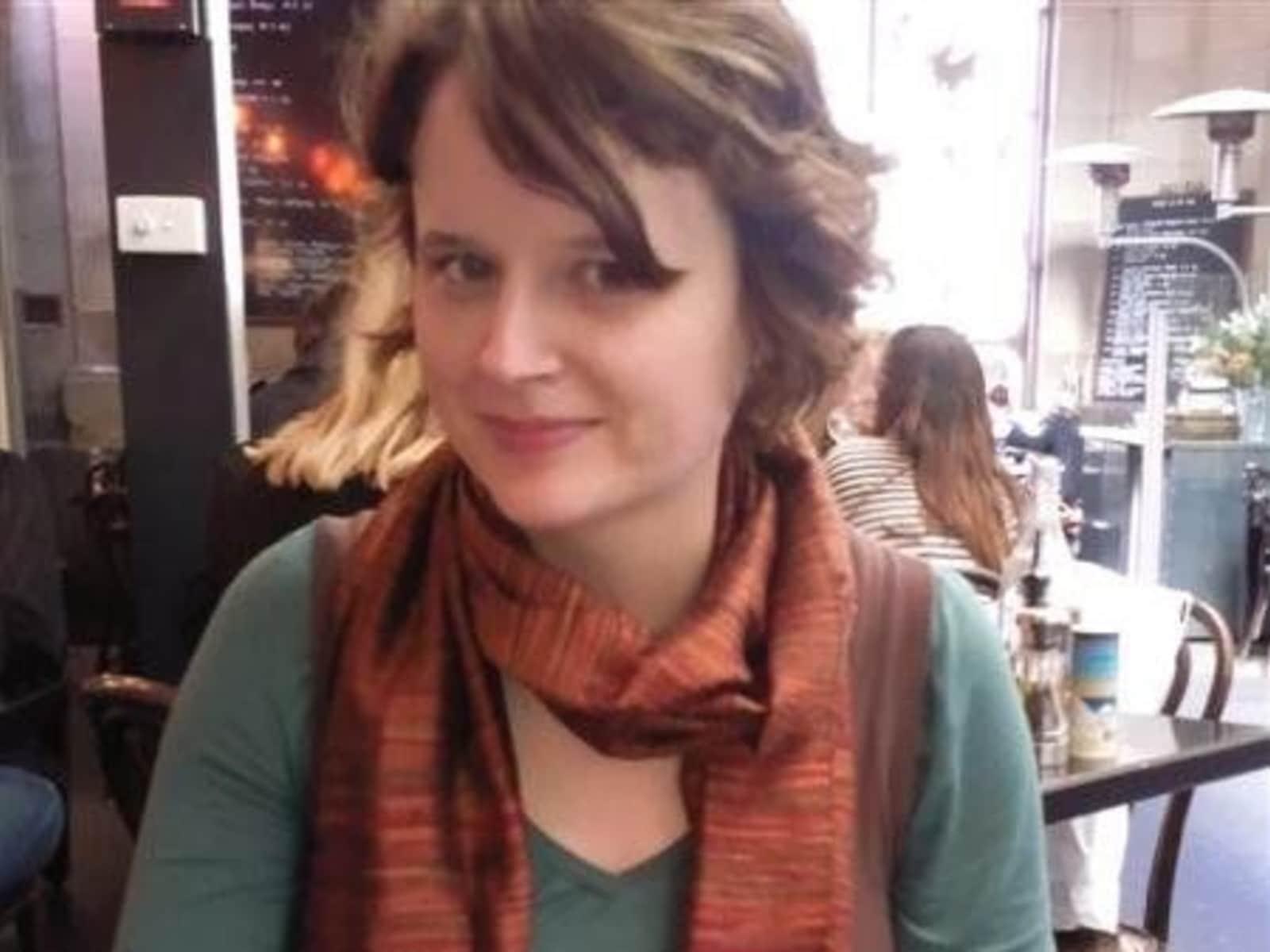 Susannah from Melbourne, Victoria, Australia