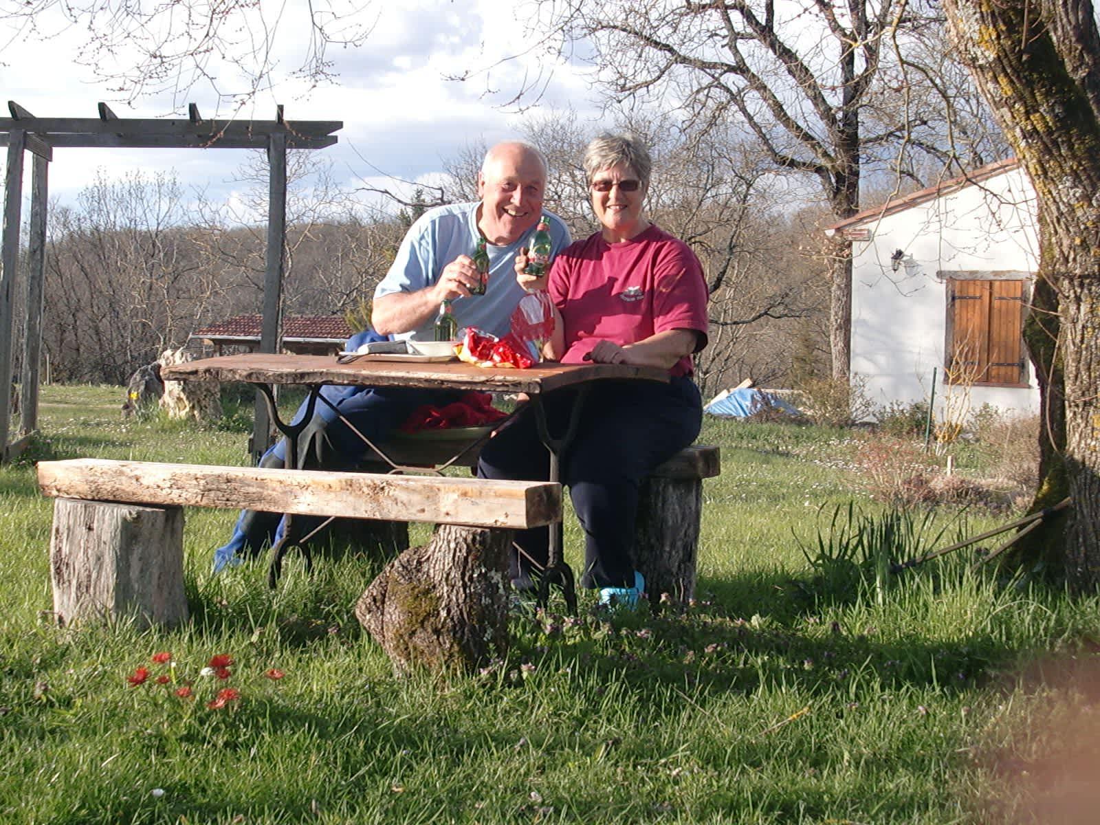 Susan & Terry from Montaigu-de-Quercy, France