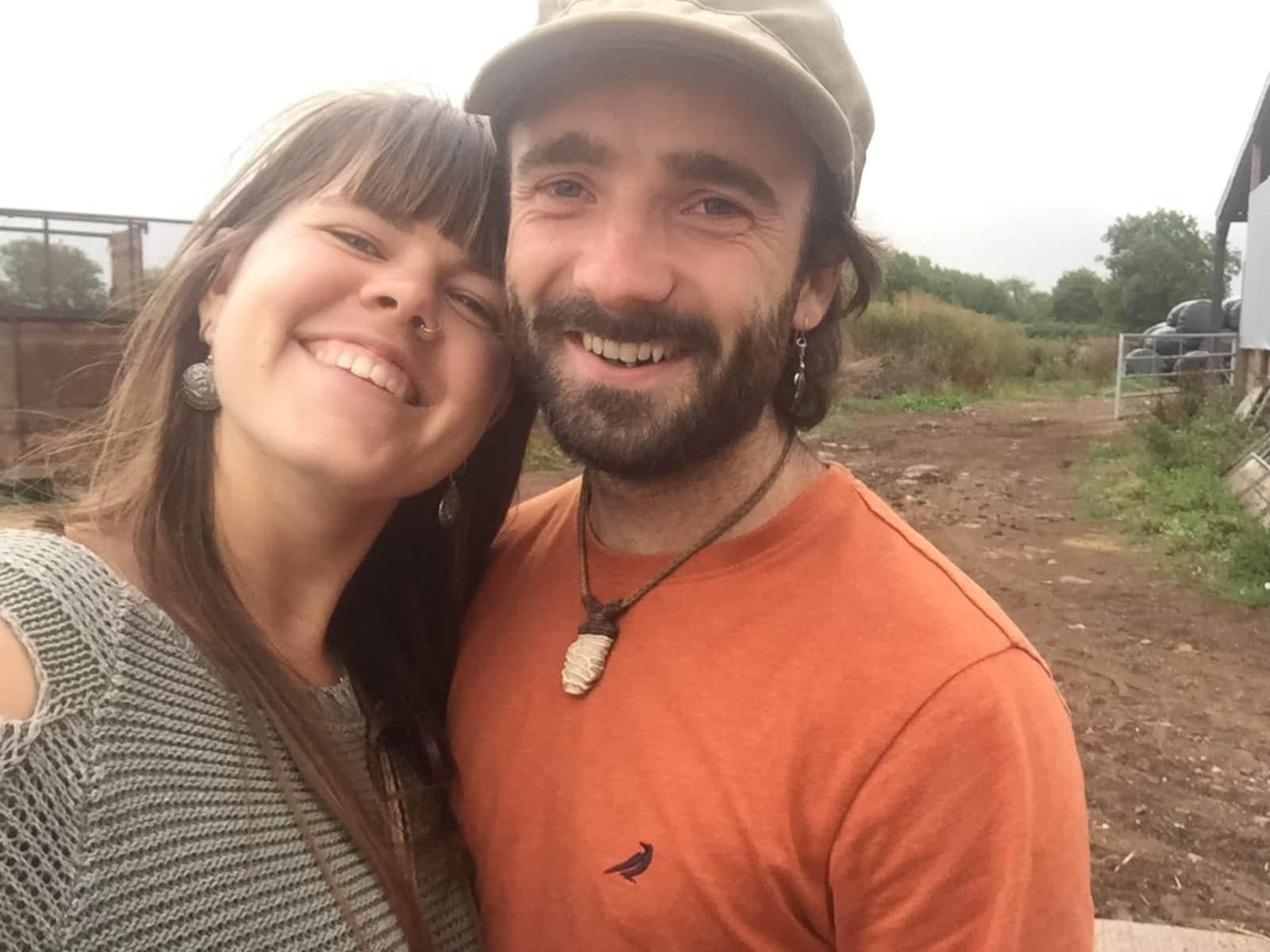 Jya and colin & Colin from Glastonbury, United Kingdom