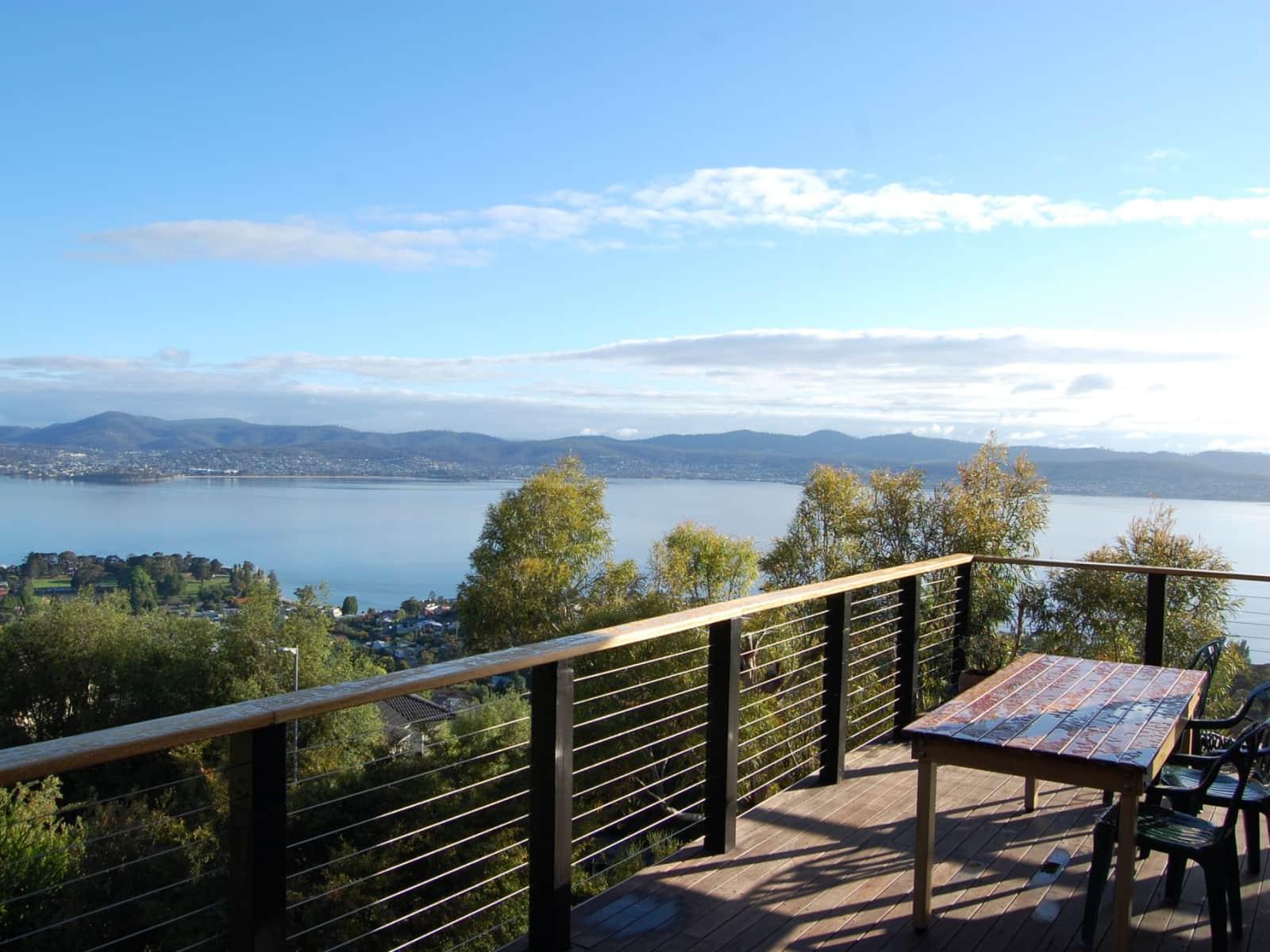 Housesitting assignment in Sandy Bay, Tasmania, Australia