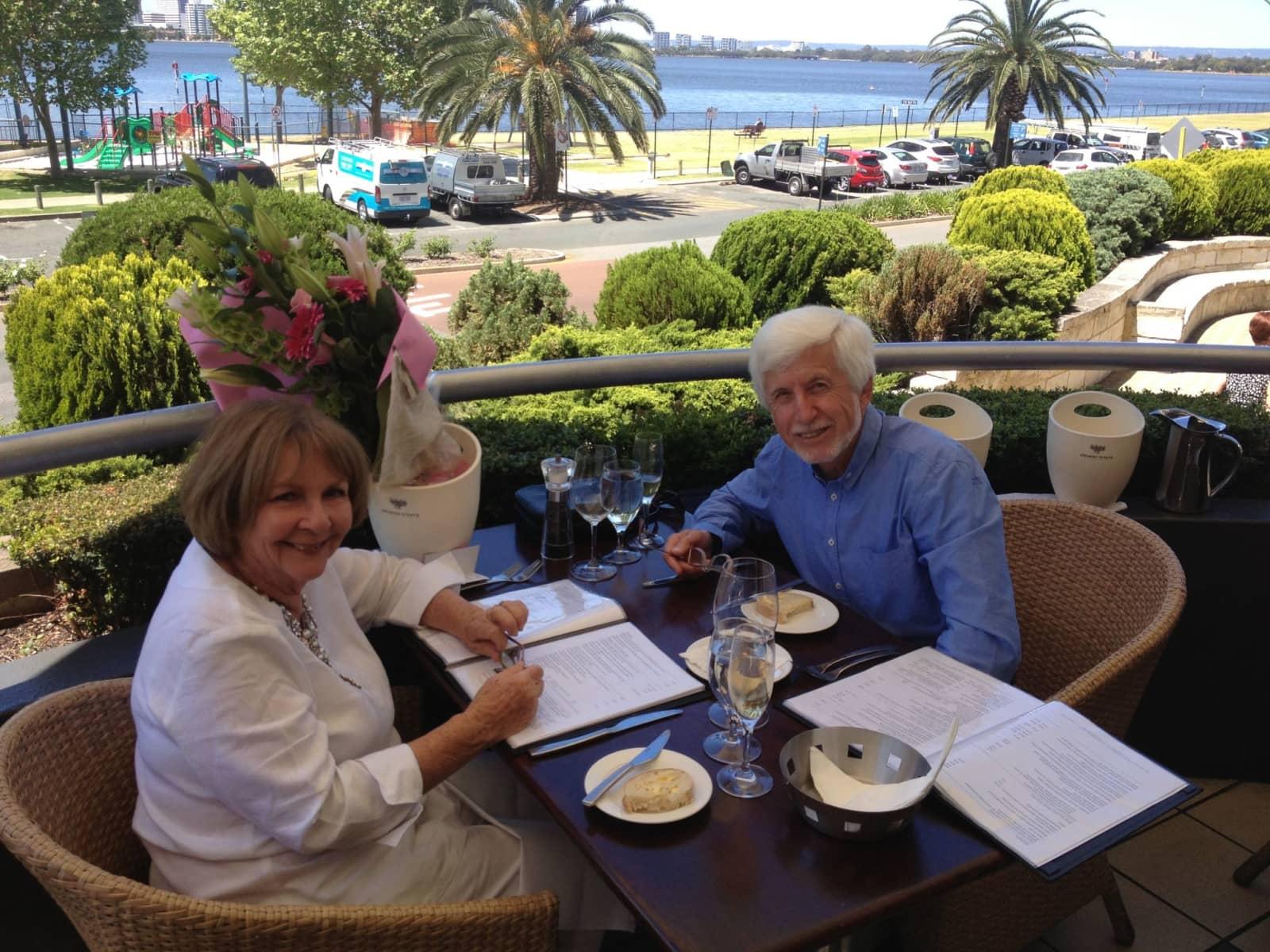Brian & Tricia from Perth, Western Australia, Australia