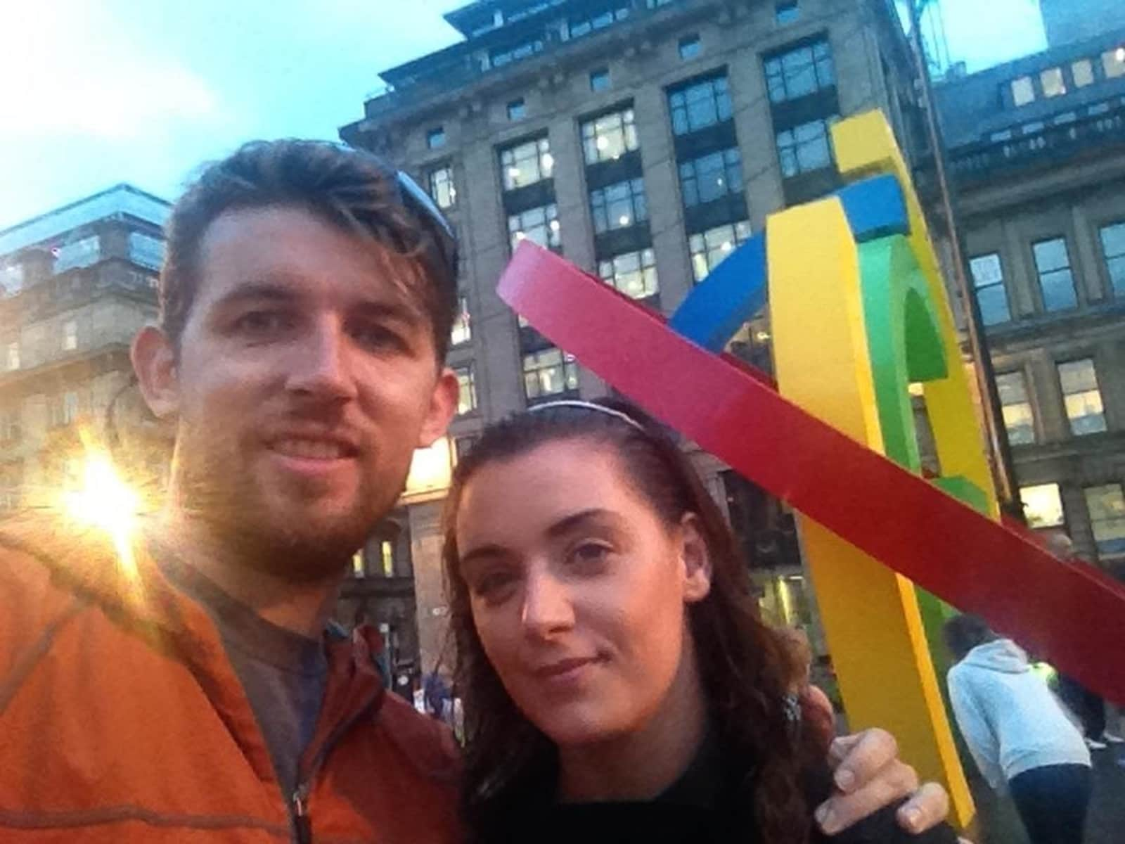 James & Ellie from Glasgow, United Kingdom
