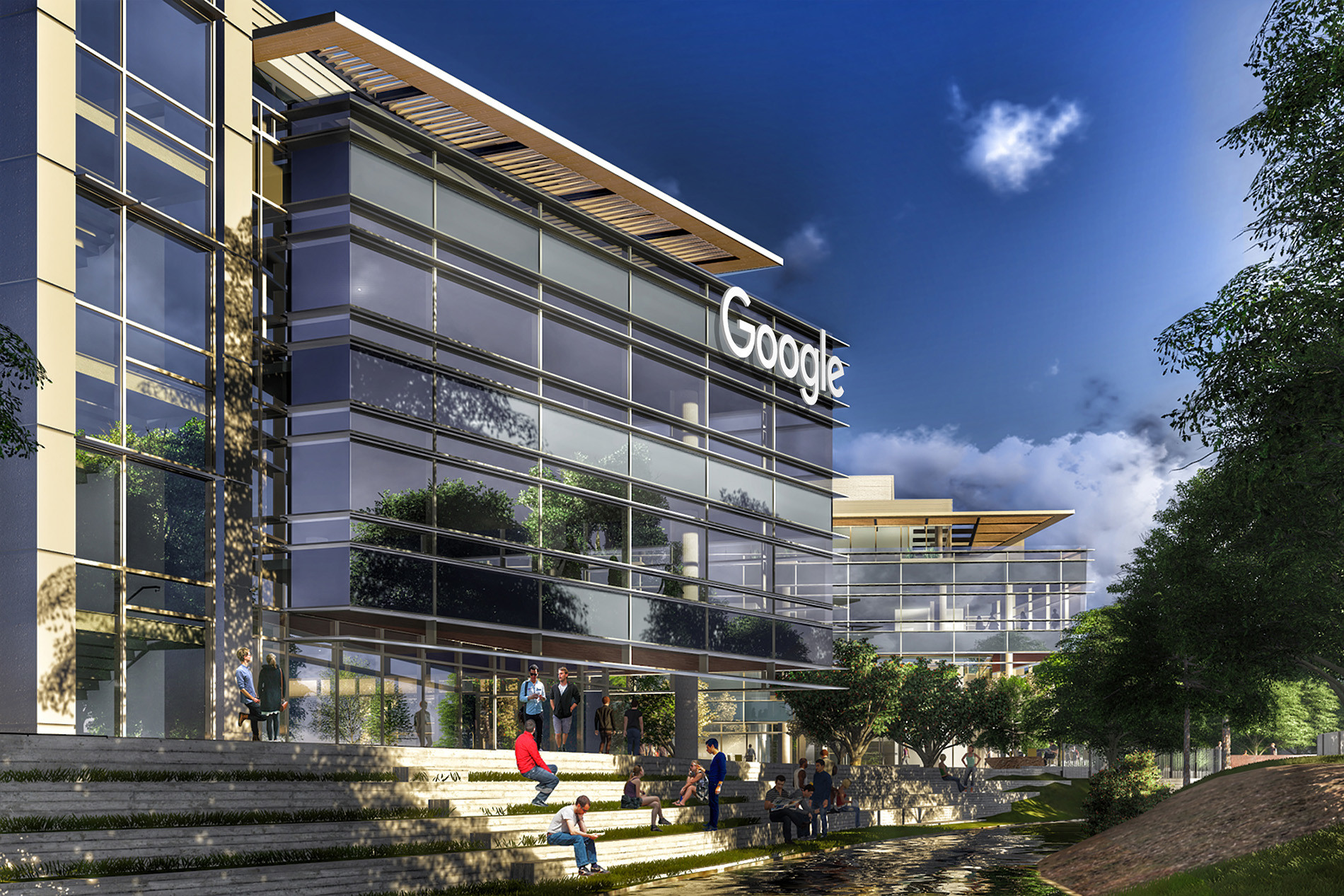 Google boulder campus tryba architects for Google house builder