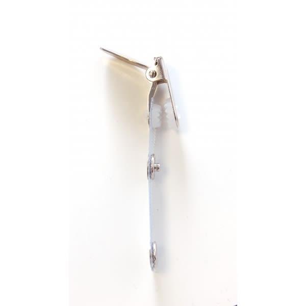 Clip IDS 16R, förstärkt vinylband med hängselklämma