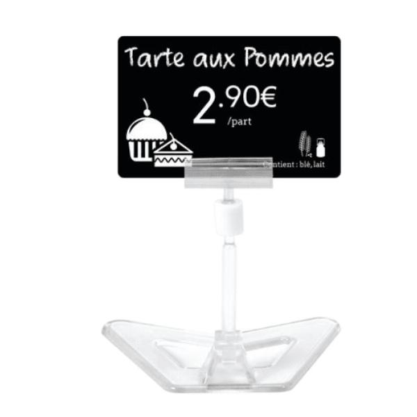 Korthållare med transparent plastfot, 80 mm hög, 25 st