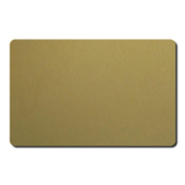 Plastkort, Guld, 0,76 mm, 100 st