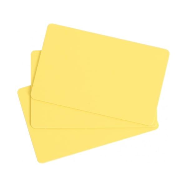 Plastkort, Gult, 0,76 mm, 100 st