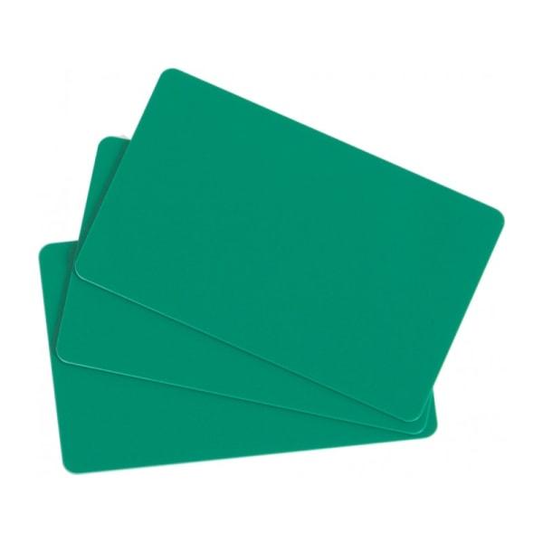 Plastkort, Grönt, 0,76 mm, 100 st
