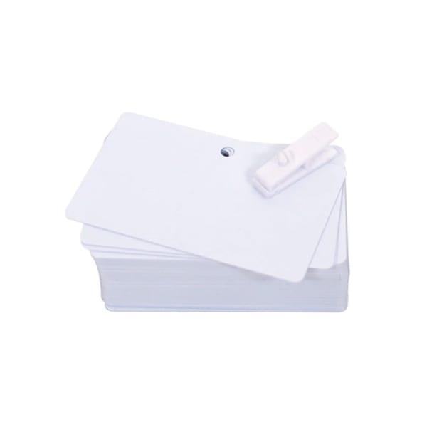 Plastkort med 5 mm hål, 0,50 mm, 100 st